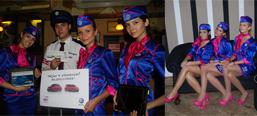 Volkswagen/Wizzair co-promotional campaign, hostess promotion