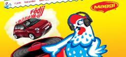 Maggi Kék Csibe promotional campaign, microsite